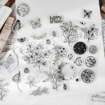 £0.99 • Buy Retro English Blessing Clear Stamps Scrapbooking Plants Postmark Silicone Seal