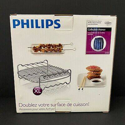 AU17.30 • Buy Philips Air Fryer Accessory Double Layer Rack W/Skewers HD9905/00 New Open Box