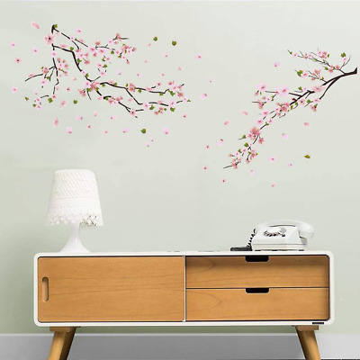 £11.88 • Buy Ufengke Flower Peach Blossom Wall Stickers Tree Branch Wall Decals Art Decor For