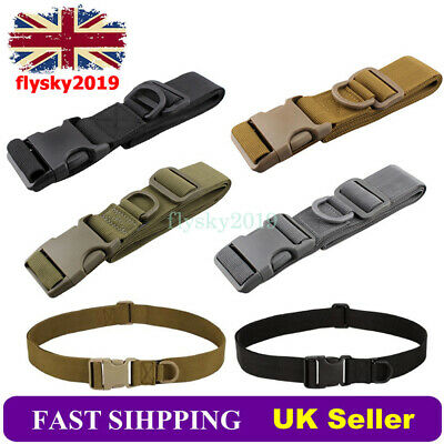 £4.89 • Buy Quick Release Army Belt Adjustable Military Trouser Tactical Men Canvas Webbing