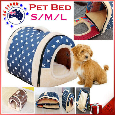 AU16.88 • Buy Pet Bed Dog Cat House Kennel Soft Igloo Cave Puppy Doggy Bed Warm Beds Cushion