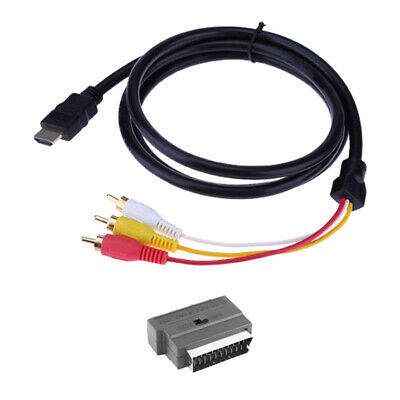 £6.46 • Buy HDMI 1080P S-video To 3 RCA AV Audio Cable With SCART To 3RCA Phono Adapt*n