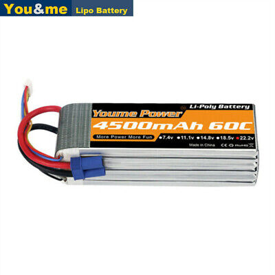 AU71.99 • Buy 22.2V 6S 4500mAh LiPo Battery 60C EC5 For RC Car Truck Helicopter Airplane Drone