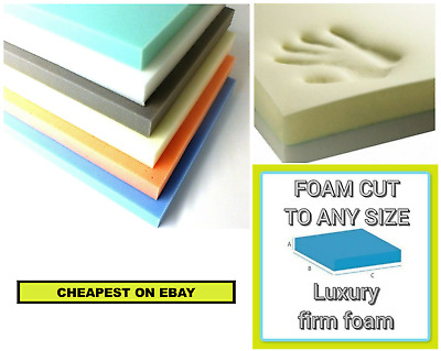£9.99 • Buy Sofa Cushions / Beds / Outdoor Seating Foam Cut To Any Size / Shape / Thickness