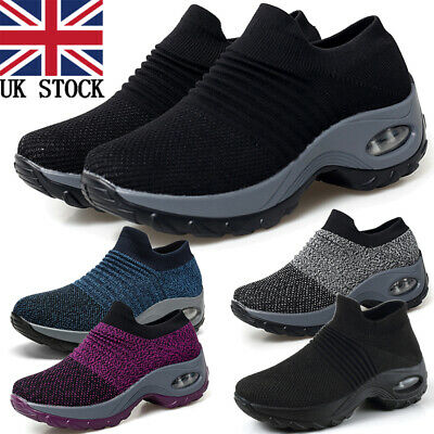 £17.99 • Buy Women's Slip On Air Cushion Breathe Trainers Shoes Fashion Sneakers Arch Support