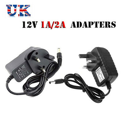 £5.69 • Buy 12V 1A 2A AC/DC UK Power Supply Adapter Safety Charger For LED Strip CCTV Camera
