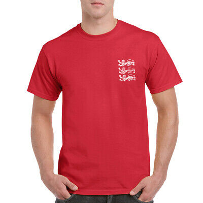 £9.99 • Buy England Three Lions T-shirt Left Chest Hand Printed In The UK Football Fans