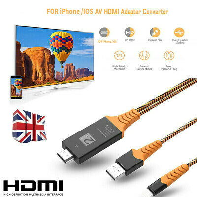 £8.97 • Buy 8PIN Connect To HDMI TV AV Cable Adapter 2M For IPhone 6S 7 IPad Air