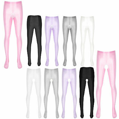 $15.99 • Buy Mens Glossy Pantyhose Tights Footed Sissy Stockings Seamless Pants Underwear