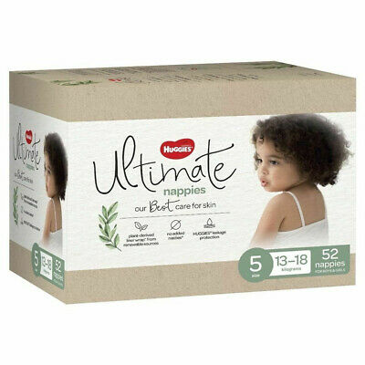 AU35 • Buy Huggies Ultimate Walker Size 5 52 Nappy Diaper Soft & Breathable Dry Cover