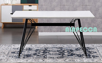 AU479.99 • Buy AINPECCA 1X Dining Table 6 Seater 150X90 CM Metal Legs Kitchen Dinner Furniture
