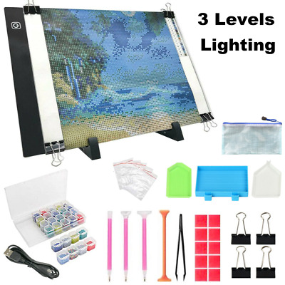 £12.98 • Buy 5D Diamond Painting Tools Kit LED Lighting Pad Drawing Board Stand Accessories