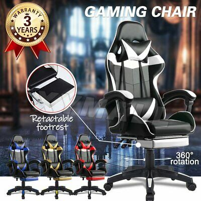 AU89.90 • Buy Gaming Chair Office Chair Computer Executive Chairs Seating Footrest Racer Xmall