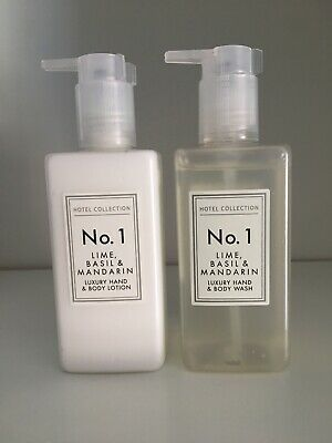 £12.99 • Buy Hotel Collection No1 Lime,Basil & Mandarin Hand & Body Wash & Hand & Body Lotion