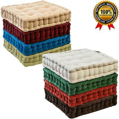 £11.99 • Buy 100% Cotton Dining Car Chair Armchair Booster Cotton Cushion Thick Seat Pads