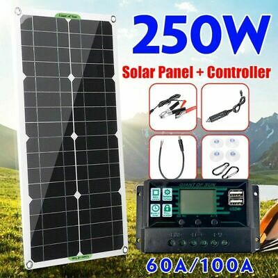 £56.72 • Buy 250W Solar Panel  Kit 12/5V Mono-crystalline Boat Off Grid 60A100A Controller