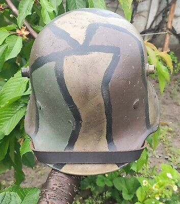 $750 • Buy Ww1 German M-16 Helmet. Stahlhelm  Camo, With Liner And Chinstrap