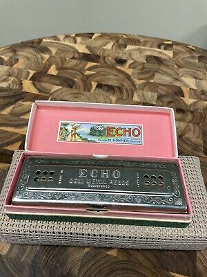 $58 • Buy M. Hohner Double Sided Harmonica The Echo Harp, Bell Metal Reeds, C & G, Germany
