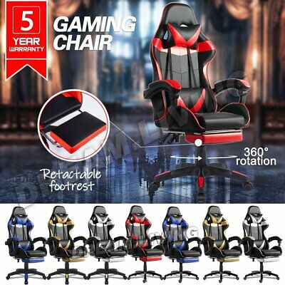 AU89 • Buy Gaming Office Chair Executive Tilt Computer Chairs Seating Racing Recliner 8