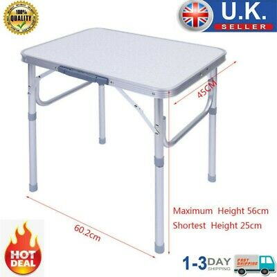 £23.79 • Buy Folding Camping Table Aluminum Picnic Portable Adjustable Party Bbq Outdoor New