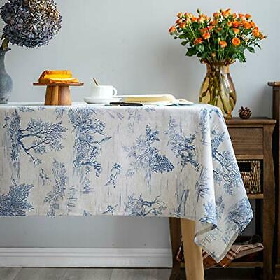 £32.99 • Buy Classic Blue French Village Printed Fabric Table Cloth Rectangular 140x259cm