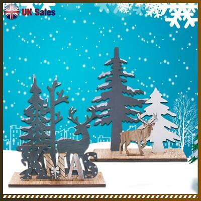 £4.18 • Buy Wooden Decoration Desk Ornament Christmas Tree Home Table Decor Brithday Gift