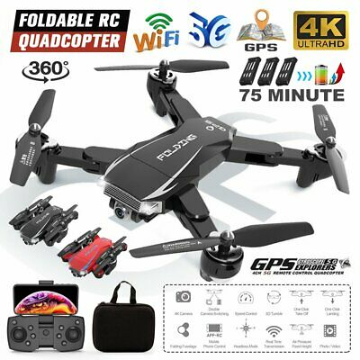 AU150.99 • Buy 5G 4K GPS Foldable Drone With HD Camera Drones WiFi FPV RC Quadcopter Batteries