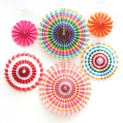 £4.99 • Buy 6 X Tissue Paper Fan Hanging Decoration HOT PINK Birthday Wedding Proms Party UK