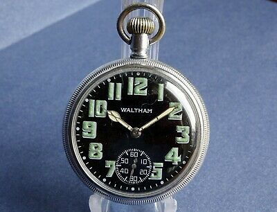£180 • Buy 1942 Excellent WALTHAM Military Issue WW11 Gents Pocket Watch. Working Antique
