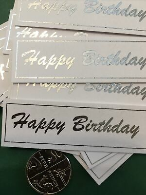 £3.20 • Buy Happy Birthday X 30 Banners/embellishments/captions/toppers Card Making