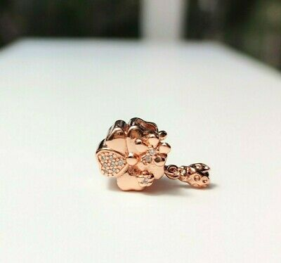 AU18.50 • Buy Rose Gold Flower And Ladybird CZ Charm BEAD SILVER EUROPEAN By Pandora's Love