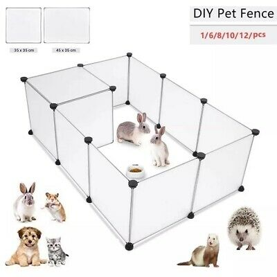 £19.78 • Buy Pet Puppy Kitten Dogs Rabbit Pig Bunny Playpen Cage Yard Fence Kennel House Set
