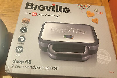 £16.99 • Buy BREVILLE VST041 Deep Fill Sandwich Toaster - Graphite & Stainless Steel - Currys