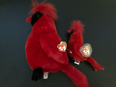 $499.99 • Buy Limited Edition Rare Original Ty Beanie Baby Mac Red Cardinal With Errors