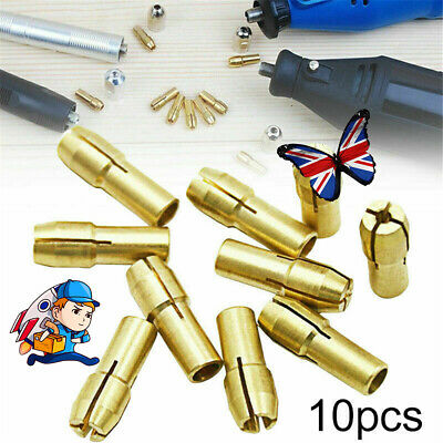 £3.79 • Buy 10Pcs Brass Drill Chuck Collet Bit For Dremel Rotary Tool Adapter 0.5mm-3.2mm