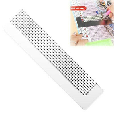 AU10.38 • Buy 5D Diamond Painting Rulers Stainless Steel Blank Grids Round Full Drill Kit Tool
