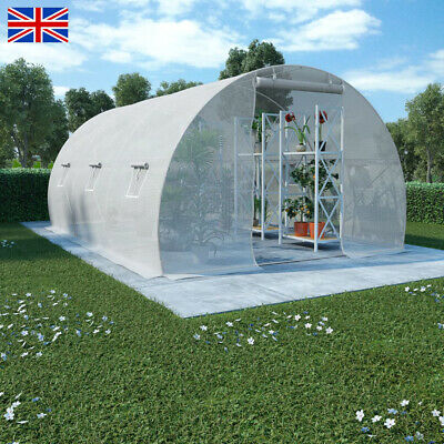 £250.43 • Buy Reinforced Steel Walk-in Polytunnel Greenhouse With Door And Windows (6 Sizes)