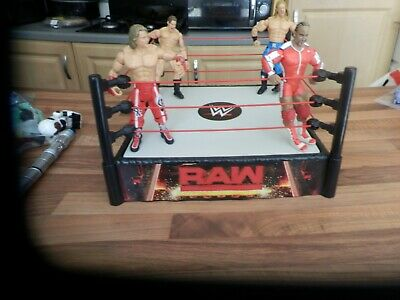 £17.99 • Buy Wwe Raw Spring Loaded Wrestling Ring And Figures