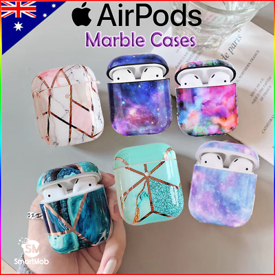 AU11.95 • Buy Apple AirPods Gen 1/2 Premium Floral Marble Style Protective Case Cover
