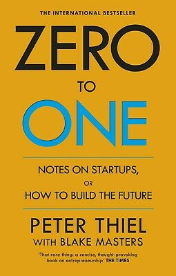AU20.75 • Buy NEW Zero To One By Blake; Thiel, Peter; Masters Paperback Book Free Shipping AU