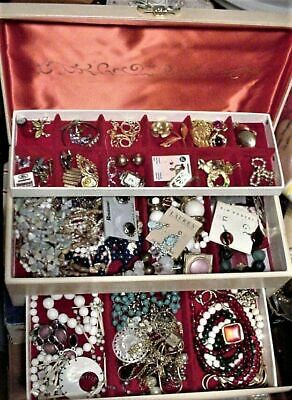 $ CDN91.35 • Buy Vintage BUXTON Jewelry Case Box & Lots Of Jewelry Parts Repair