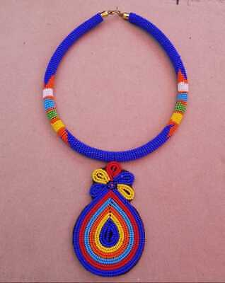 $45 • Buy Maasai Necklace, Beaded Necklace, African Necklace, Zulu Necklace, Tribal