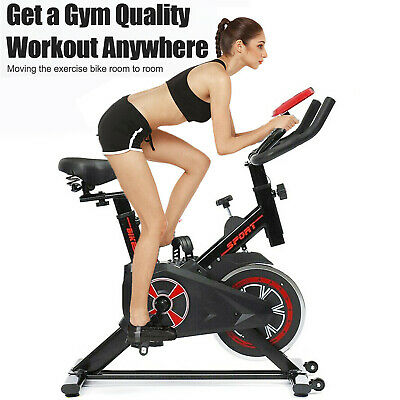 £98.96 • Buy Home Gym Spin Bike Exercise Fitness Bikes Fitness Cardio Workout Machine Indoor