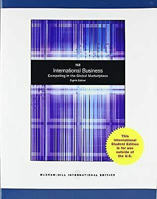 £25.16 • Buy International Business, Hill, Charles W. L., Used; Good Book