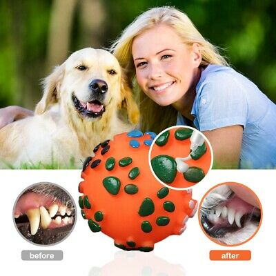 £2.65 • Buy Pet Dog Puppy Rubber Ball Rubber Balls Teething Durable Treat Clean Chew Toy