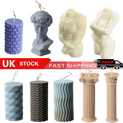 £7.99 • Buy Candle Moulds Silicone Human Body Column Roman Candle Wax Making Soap Mold DIY