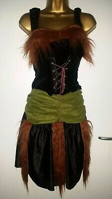 £5 • Buy Shrek Fiona Princess Outfit Green Black Lace Up Front Dress Halloween One Size