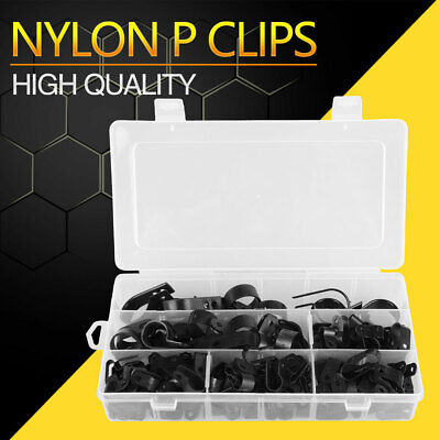 £10.99 • Buy 200pcs Nylon P Clips Fasteners Cable Conduit Tubing Wire Sleeving Plastic P Clip