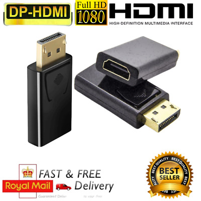 £2.99 • Buy Display Port DP Male To HDMI Female Adapter Converter Connector 1080p HDTV PC UK