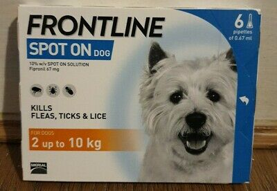 £25.55 • Buy FRONTLINE Spot On Flea And Tick Treatment For Small Dogs 2-10kg 6 PIPETTES New